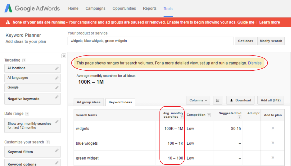 google-keyword-planer